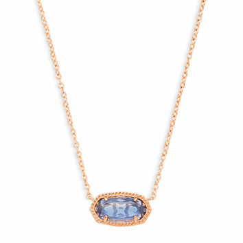 Elisa Pendant Necklace in Navy Dusted Glass | Kendra Scott