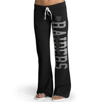 Womens Oakland Raiders '47 Brand Black Pep Rally Pants