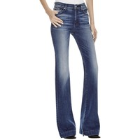 7 For All Mankind Womens Denim Original Fit Extreme Flare Jeans