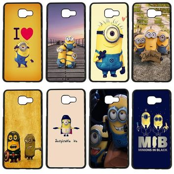 Cute Cartoon Yellow Minions Cell Phone Cases Hard Plastic Cover for Samsung Galaxy S8 S9 Plus S3 S4 S5 Mini S7 S6 Edge Plus Case