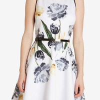 Ink Printed Sleeveless Dress