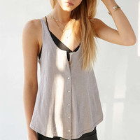 BDG Button-Down Tank Top - Urban Outfitters