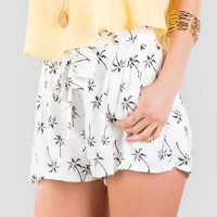 Priya Palm Tree Printed Shorts