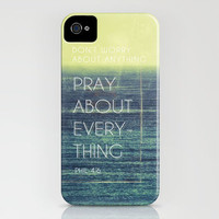 Phillipians 4:6 iPhone Case by Pocket Fuel | Society6
