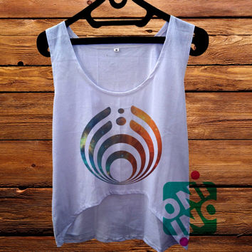 Bassnectar Logo Galaxy crop tank Women's Cropped Tank Top