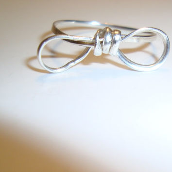 Bow Ring in Gold Filled Wire - Wire wrapping design - Fun Ring - A Bow for all Occassions - Available in Sterling Silver