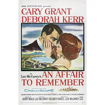 Vintage An Affair to Remember Movie Poster//Classic Movie Poster/Movie Poster//Poster Reprint//Home Decor//Wall Decor//Vintage Art