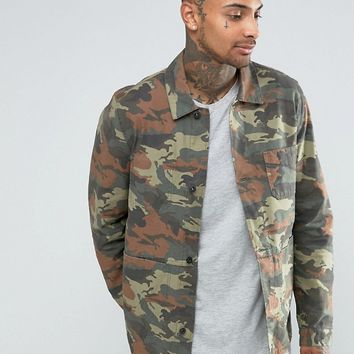 ASOS Military Style In Camo Print at asos.com