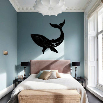 Ocean Whale Vinyl Wall Words Decal Sticker Graphic