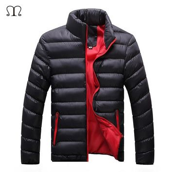 Winter Jacket Men 2018 Fashion Stand Collar Male Parka Jacket Mens Solid Thick Bomber Jackets and Coats Man Warm Hooded Parkas
