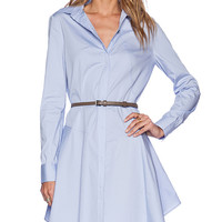 Halston Heritage Cotton Shirtdress in Blue
