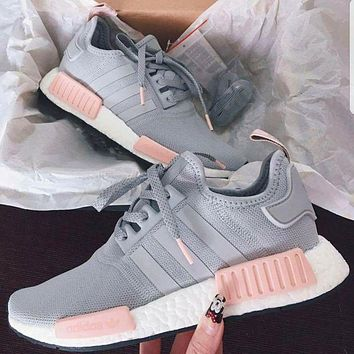 ADIDAS Women Running Sport Casual Shoes NMD Sneakers GREY G