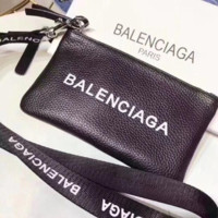 "Hot Sale ""Balenciaga"" High Quality Popular Women Shopping Leather Zipper Handbag Bag Wrist Bag Purse"
