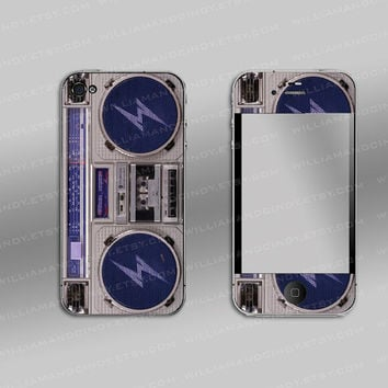 iphone 4 wrap, iphone 4s cover  -  ghetto Blaster
