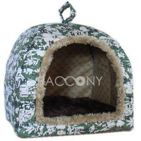 Soft Yurt Shaped Pet Beds with Pad and Pillow Large Dog Suitable