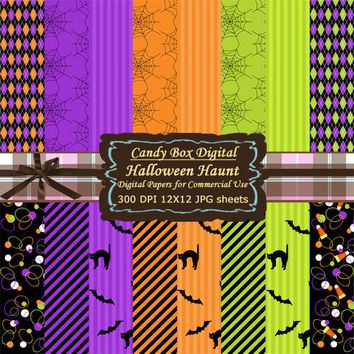 Halloween Paper, Halloween Scrapbook, Halloween Digital, Halloween Digital Paper, Halloween Scrapbook Paper - Commercial Use OK