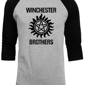 Supernatural tops tee shirts 2018 summer autumn raglan sleeve funny crossfit winchester brothers t shirts men streetwear homme