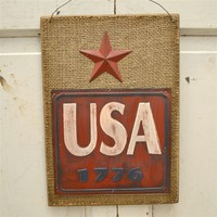 Rustic USA 1776 Wall Hanger