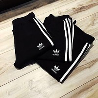 Adidas Women Fashion Casual Black Running Leggings Sweatpants G