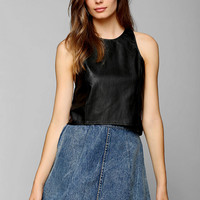 Glamorous Vegan Leather Tank Top - Urban Outfitters