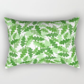 Floating Leaves Three Rectangular Pillow by Robin Gayl