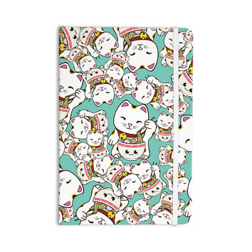 "Juan Paolo ""Ramen Cats"" Teal White Everything Notebook"