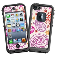 Purple and Pink Paisley Skin  for the iPhone 5 Lifeproof Case by skinzy.com