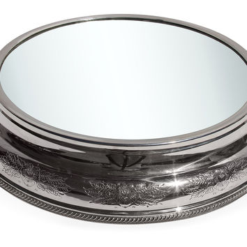 Silver-Plated Embossed Plateau, Cake Stands & Tiered Trays