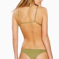 Frankies Bikinis Green Bella Bottom | Limited Edition Designer Bikini Bottom