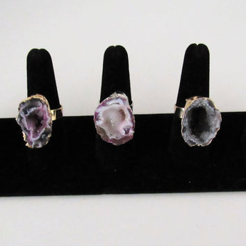Druzy Rings- Adjustable
