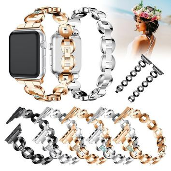 Alloy watch band Link Chain Strap for Apple Watch Series 3
