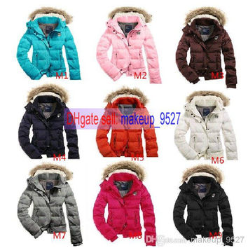 2014 HOT Women's AE Street Fashion Down Coat Jacket Winter parka Fur Hooded Down Hoodies Outerwear