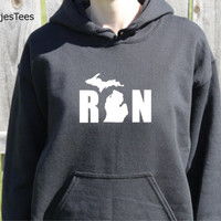 Run Michigan Hoodie