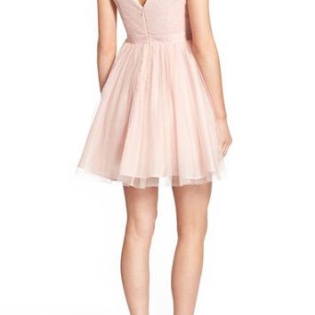 Soloiste 'Beatrice' Embellished Tulle Skater Dress | Nordstrom
