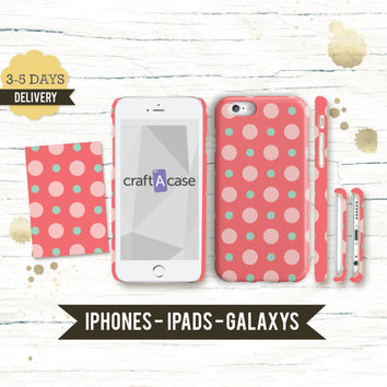 iPhone 6 Personalised polka dot phone Case - iPhone 6 Plus case iPhone 6 Case iPhone 5 5S Case Samsung Galaxy S5 S4 Case
