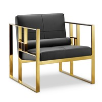 Westgate Lounge Chair BLACK/POLISHED GOLD