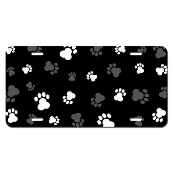 Paw Prints Galore Novelty License Plate