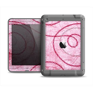 The Pink Chain Stitch Apple iPad Mini LifeProof Fre Case Skin Set