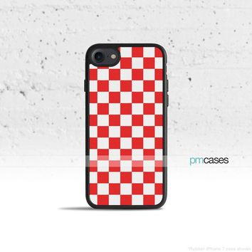 Red Checkerboard Phone Case Cover for Apple iPhone iPod Samsung Galaxy S & Note