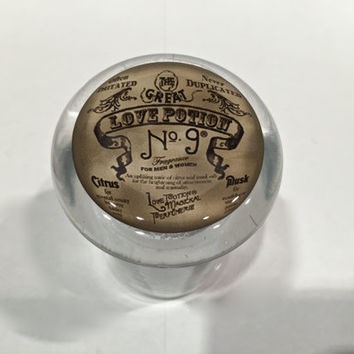 The Great Love Potion No. 9 Vintage Medical Glass Stash Jar w/ Air Tight Lid #9
