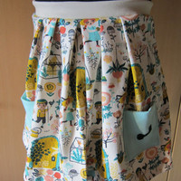 Baby girl skirt, summer skirt, skirt, Hidden Garden, size 9-10 (128)