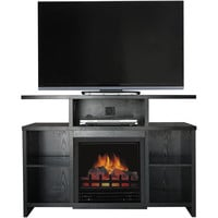 "Driftwood TV Stand with Fireplace Insert for TVs up to 60"", Multiple Colors - Walmart.com"