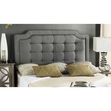 Safavieh Saphire Grey Upholstered Tufted Headboard (Queen) | Overstock.com Shopping - The Best Deals on Headboards