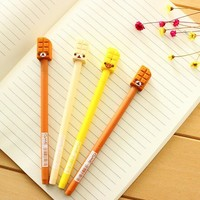 4 pcs/lot Novelty Rilakkuma Bear Gel Ink Pen Promotional Gift Stationery School & Office Supply