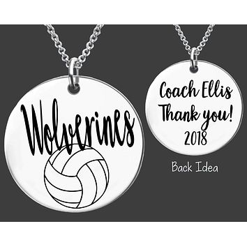 Volleyball Coach Necklace | Personalized Coach Necklace