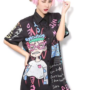 Cartoon Blouse