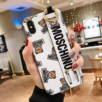 MOSCHINO Hot Sale Cute Bear Mobile Phone Cover Case For iphone 6 6s 6plus 6s-plus 7 7plus 8 8plus X XS Max XR White
