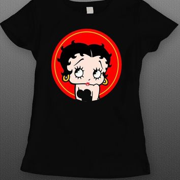 ICONIC LADIES CARTOON BETTY BOOP LADIES T-SHIRT