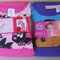 2-Piece Girls Flannel Pajamas Set Sleepwear NEW Children Kids