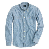 J.Crew Mens Slim Selvedge Japanese Chambray Utility Shirt
